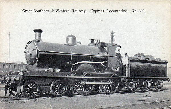 GREAT SOUTHERN & WESTERN RAILWAY STEAM LOCOMOTIVES.