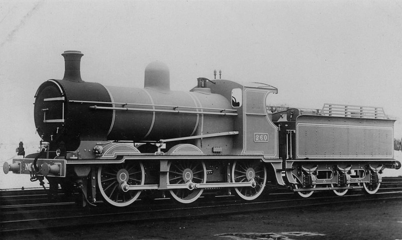 260 - Maunsell GSWR Class 257 0-6-0 - built 1913 by Inchicore Works - 1925 to GSR, 1931 rebuilt with Belpaire boiler, 1945 to CIE - 1962 withdrawn.