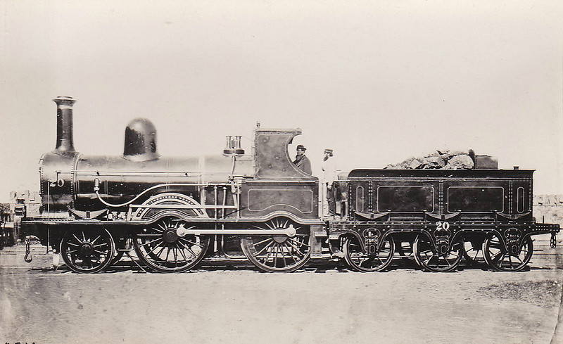 20 - Class 1 2-4-0 - built 1870 by Inchicore Works - 1888 withdrawn.