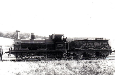 217 - WD&LR 0-4-2, built in 1892 by Sharp Stewart as Waterford, Dungarvan & Lismore Railway No.7 - 1898 to GS&WR as No.217 - withdrawn 1910.