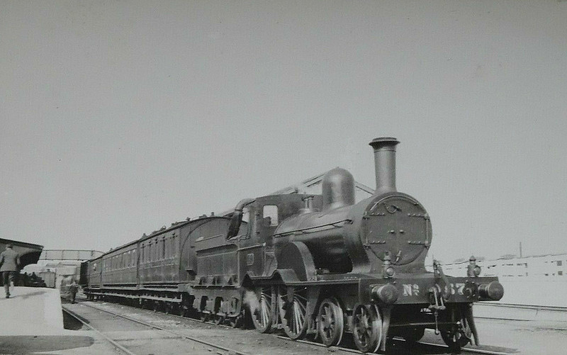 57 - Aspinall GSWR Class 52 4-4-0 - built 1888 by Inchicore Works - 1925 to GSR, 1945 to CIE - 1950 rebuilt with superheated Belpaire boiler - 1957 withdrawn.