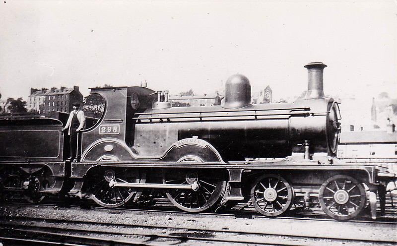 298 BERNARD - Robinson WL&WR 4-4-0, built 1897 by Kitson & Co. - 1901 to GS&WR as No.298 - 1927 rebuilt - 1925 to GSR, 1945 to CIE - 1949 withdrawn.