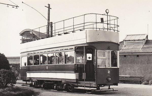 No.2 - eight trams built in 1901 by Brush & Co., Loughborough - 67 passengers - seen here in June 1954.