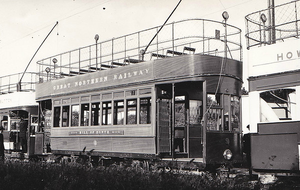 No.9 - built 1902 by Milne & Co. - 73 passengers - seen here in June 1954 - preserved at National Transport Museum of Ireland.