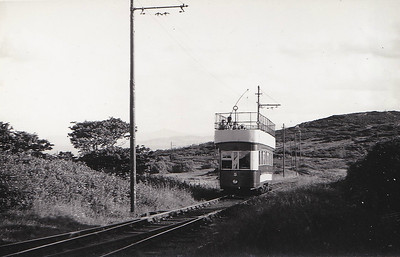 No.5 - eight trams built in 1901 by Brush & Co., Loughborough - 67 passengers - seen here in June 1954 approaching Howth Head from Sutton.