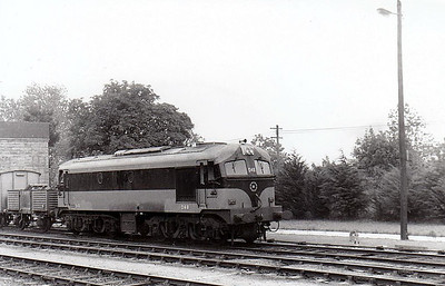 CORAS IOMPAIR EIREANN - 048 - Metropolitan Vickers Class A Co-Co - 60 locomotives built from 1955 - built as No.A48 - from 1968 re-engined with GM motors and suffix 'R' added to numbers - 1972 to CIE No.048 - all withdrawn by 1995 - seen here at Limerick Junction in 1973.