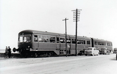 CORAS IOMPAIR EIREANN - 2600 Class DMU, 66 2-car sets built from 1951 by AEC - all withdrawn by 1975, many converted to push/pull driving trailers - seen here at Wexford Quays, 1955.