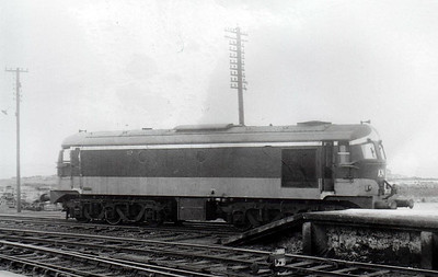 CORAS IOMPAIR EIREANN - A24 - Metropolitan Vickers Class A Co-Co - 60 locomotives built from 1955 - from 1968 re-engined with GM motors and suffix 'R' added to numbers - 1972 to CIE No.024 - all withdrawn by 1995 - seen here at Galway. 06/64.
