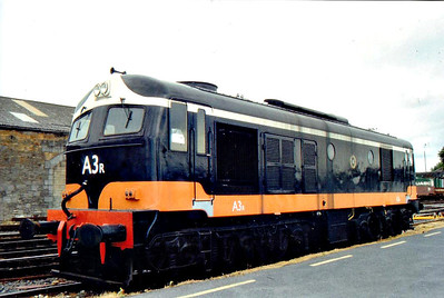 CORAS IOMPAIR EIREANN - A 3R - Metropolitan Vickers Class A Co-Co DE - built 09/55 by Metropolitan Vickers, first of class to enter traffic - 03/71 re-engined and 'R' siffix added - 1972 to 003 - withdrawn 04/95 - preserved by ITG - seen here at Limerick.
