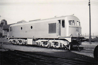 CORAS IOMPAIR EIREANN - A 4 - Metropolitan Vickers Class A Co-Co - 60 locomotives built from 1955 - from 1968 re-engined with GM motors and suffix 'R' added to numbers - 1972 to CIE No.004 - all withdrawn by 1995 - seen here at Inchicore Works when new, 09/55.