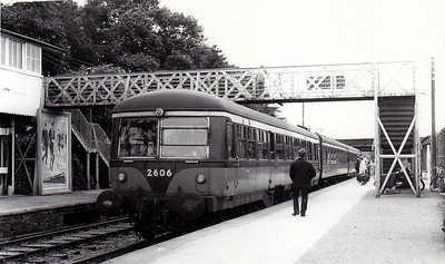 CORAS IOMPAIR EIREANN - 2606 - 2600 Class DMU, 66 2-car sets built from 1951 by AEC - all withdrawn by 1975, many converted to push/pull driving trailers - seen here in the mid 1960's.