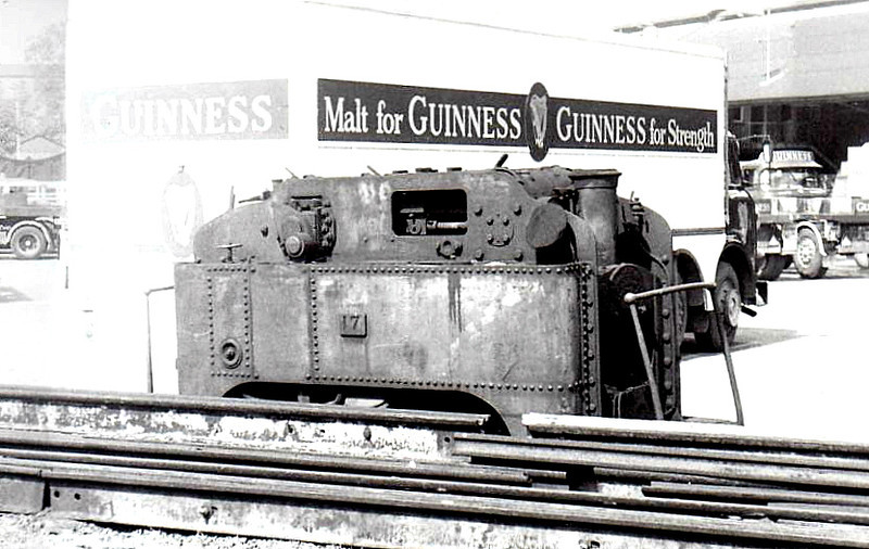 GUINNESS BREWERY TRAMWAY - 17 - 1ft 10in. 0-4-0T built 1902 by W Spence - withdrawn 1959 - preserved - seen here in 06/64 at St James Gate.