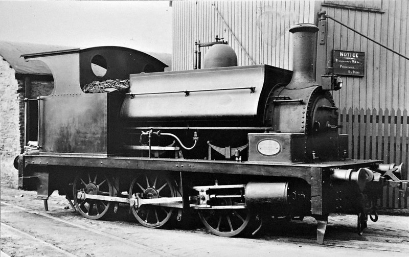 LONDONDERRY PORT & HARBOUR COMMISSIONERS - No.1 - 0-6-0ST - built 1891 by Robert Stephenson & Co., Works No.2738 - 1962 withdrawn - note drawgear for both Irish Standard Gauge and Narrow Gauge stock - loco must have to have faced in the same direction always! - note mixed gauge track.