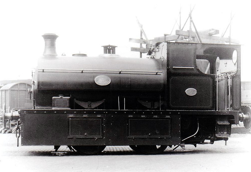 GUINNESS BREWERY TRAMWAY -  3 - 5ft 3in. gauge 0-4-0ST built 1915 by Hudswell Clarke - preserved - seen here in 1932.