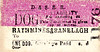 DUBLIN & SOUTH EASTEREN RAILWAY TICKET - RATHMINES & RANELAGH - Ticket for a Dog accompanying a Passenger.