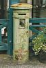 PORTARLINGTON STATION - The Victorian Postbox on the platform, October 2002.
