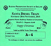 RAILWAY PRESERVATION SOCIETY OF IRELAND TICKET - DUBLIN PEARSE - 'Santa Diesel Train' - November 28th,2015.