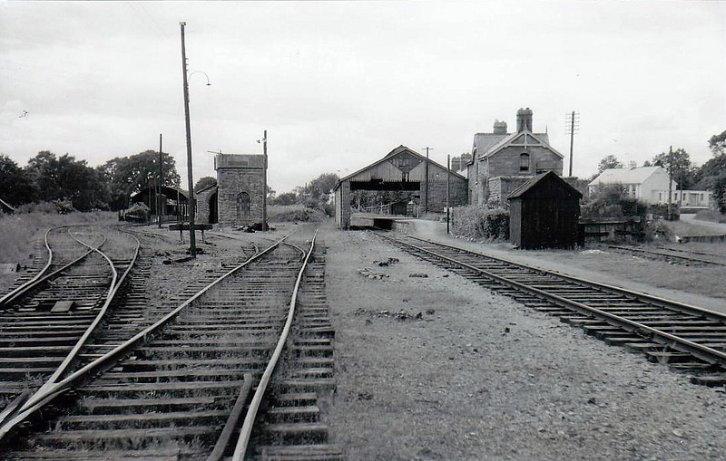 BELTURBET STATION - County Cavan, just 4km from the border with Ulster. Opened in 1885 by the GNR (I) on the branch to Ballyhaise from the Cavan - Clones line. It closed for all services in April 1959. Probably seen here after closure.