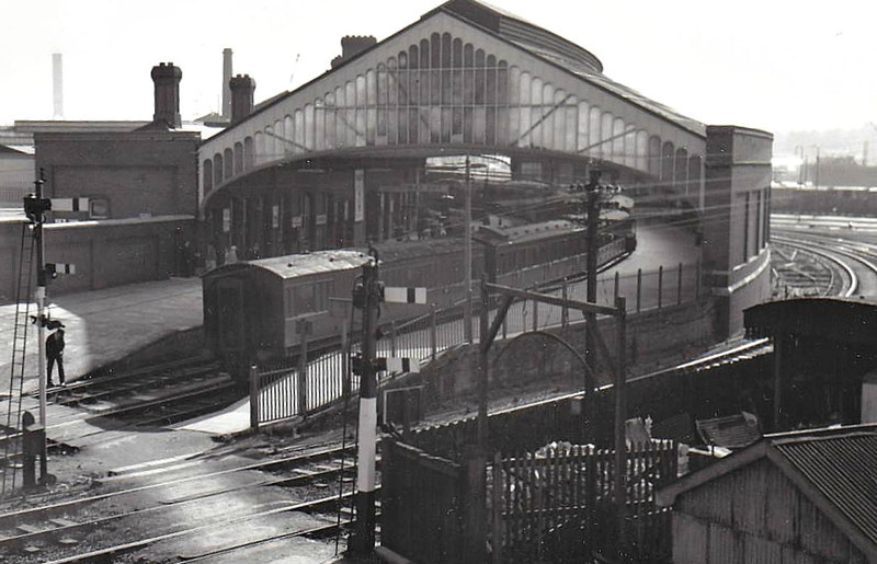 CORK KENT STATION - opened in 1893 as Glanmire Road, this was once one of 6 stations in Cork, several of them termini. It was renamed Kent in 1966 on the 50th Anniversary of the Easter Rising. Seen here with a train just arrived from Dublin.