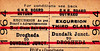 GREAT NORTHERN RAILWAY (IRELAND) TICKET - DUNDALK JUNCTION - Third Class Day Excursion Return to Drogheda.