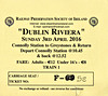 RAILWAY PRESERVATION SOCIETY OF IRELAND TICKET - DUBLIN CONNOLLY - 'Dublin Riviera' - April 3rd, 2016 - Class K2 2-6-0 No.461 worked two specials from Connolly to Greystones on that day. Valid on Train 11, the first train of the day.