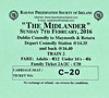 RAILWAY PRESERVATION SOCIETY OF IRELAND TICKET - DUBLIN CONNOLLY - 'The Midlander' - February 7th, 2016 - Class K2 2-6-0 No.461 worked from Connolly to the M3 Parkway and return and then from Connolly to Maynooth and return. These were public test runs for 461's return to traffic.