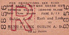 GREAT NORTHERN RAILWAY (IRELAND) TICKET - RUSH AND LUSK - Second Class Three Monthly Return to Dublin Amiens Street - fare 3s 11d - punched but not dated. Rush and Lusk Station is about half way between Drogheda and Dublin.