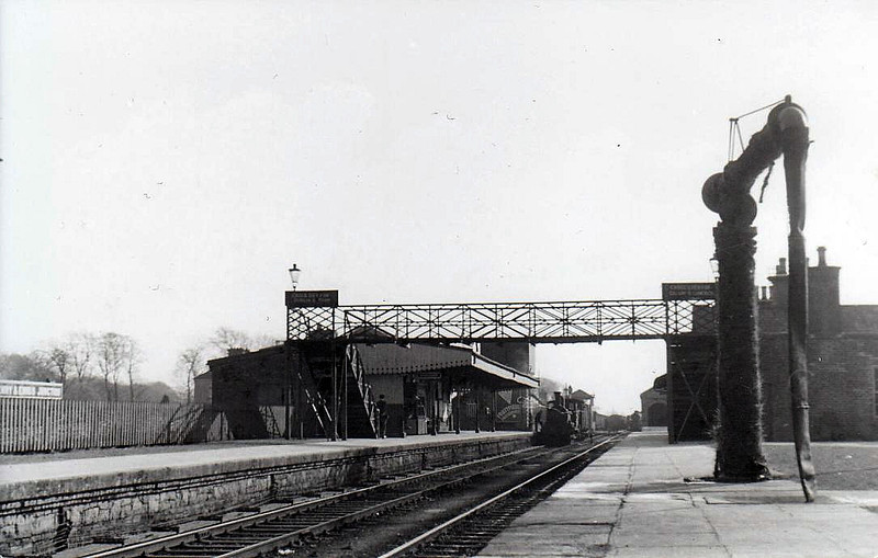 ATHENRY STATION - Opened in 1851, the station is a major junction on the Galway - Dublin line. From here a line goes south to Limerick via Ennis. Seen here in 1955, looking towards Galway.