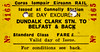 CORAS IOMPAIR EIREANN TICKET - DUNDALK CLARK - Standard Class Day Excursion to Belfast - dated April 12, 1990.