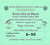 RAILWAY PRESERVATION SOCIETY OF IRELAND TICKET - DUBLIN PEARSE - 'Santa Steam Train' - December 13th, 2015 - Class WT 2-6-4T No.4 worked two specials from Pearse to Greystones on that day. Valid on Train 15, the second train of the day.
