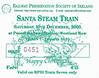 RAILWAY PRESERVATION SOCIETY OF IRELAND TICKET - DUBLIN PEARSE - 'Santa Steam Train' - December 10th, 2005 - Class WT 2-6-4T No.4 hauled this special to Maynooth and back.