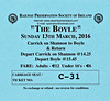 RAILWAY PRESERVATION SOCIETY OF IRELAND TICKET - CARRICK ON SHANNON - 'The Boyle' - March 13th, 2016 - Class WT 2-6-4T No.4 worked from Carrick on Shannon to Boyle on that day. This was the second leg of this tour.