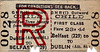 GREAT NORTHERN RAILWAY (IRELAND) TICKET - BELFAST - First Class Child Three Monthly Return to Dublin Amiens Street. - fare 23s 4d - clipped but not dated.