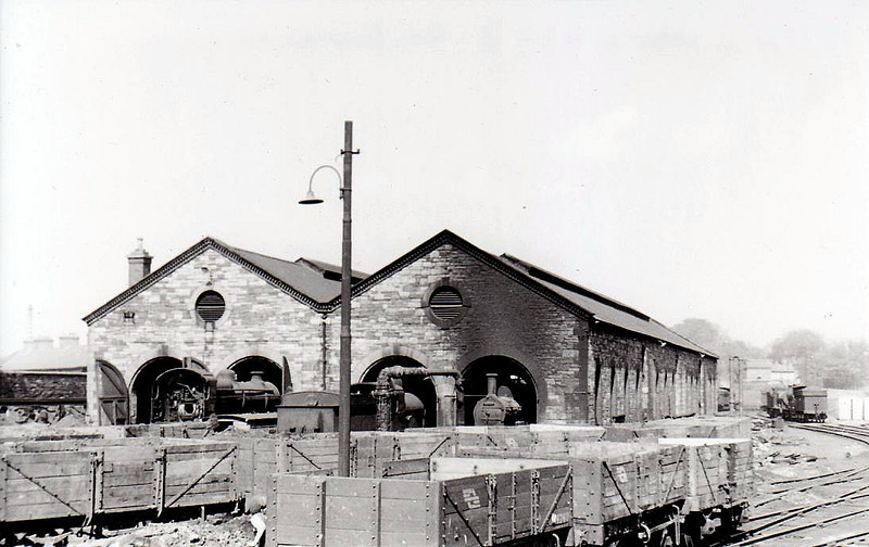 BROADSTONE ENGINE SHED - the through shed in 1955.