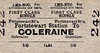LMSR/NORTHERN COUNTIES COMMITTEE TICKET - PORTSTEWART - First Class Single to Coleraine, fare 1/-.