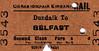 CORAS IOMPAIR EIREANN TICKET - DUNDALK - Second Class Single to Belfast - dated December 29th, 1961.