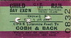 CORAS IOMPAIR EIREANN TICKET - CORK (GLANMIRE ROAD) to COBH - Third Class Child Day Excursion - dated January 1st, 1958.