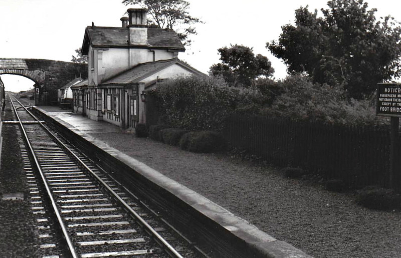 BLARNEY STATION - looking towards Cork, located on the line from Cork to Mallow, opened in 1850 and completely closed in 1963. A new station is currently under construction in the old goods yard with the proposed re-introduction of the Cork - Mallow suburban services.