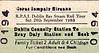 CORAS IOMPAIR EIREANN TICKET - DUBLIN CONNOLLY - RPSI Rail Tour Family Ticket to Bray Daly. On September 24th, 1983, the RPSI ran three return excursions from Dublin Connolly to Bray Daly Station behind Class J15 (101) 0-6-0 No.184.