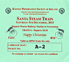 RAILWAY PRESERVATION SOCIETY OF IRELAND TICKET - DUBLIN PEARSE - 'Santa Steam Train' - December 5th, 2015 - Class WT 2-6-4T No.4 worked two specials from Pearse to Greystones on that day. A third train was worked by diesel haulage. Valid on Train 6, the firsdt train of No.4's trains.