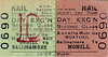 CORAS IOMPAIR EIREANN TICKET - BALLINAMORE to MOHILL - Second Class Day Excursion Return ticket.