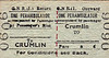 GREAT NORTHERN RAILWAY (IRELAND) TICKET - CRUMLIN - Perambulator Return to Blank Destination.