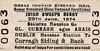 CORAS IOMPAIR EIREANN TICKET - DUBLIN HEUSTON to CURRAGH SIDING - Super Standard Class Reduced Fare Return Ticket for the Irish Sweeps Derby on June 29th, 1974.