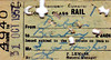 CORAS IOMPAIR EIREANN TICKET - DUBLIN - Second Class Return Pass to Bantry, issued to a Mr SJ Hughes, valid until October 31st, 1957. Fairly thoroughly punched!