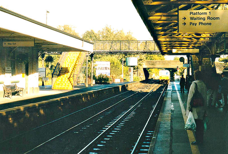 LISBURN STATION - South of Belfast, in County Antrim, the 3 platform station was opened in 1839 and is still heavily used by commuters to Belfast - seen here October 23rd, 2002.