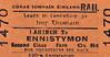 CORAS IOMPAIR EIREANN TICKET - LAHINCH - Second Class Single to Ennistymon, fare 8d.