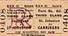 GREAT NORTHERN RAILWAY (IRELAND) TICKET - ST JOHNSTOWN - Third Class Three Monthly Return to Carrigans - fare 6d.