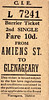 CORAS IOMPAIR EIREANN TICKET - DUBLIN AMIENS STREET - Second Class Single to Glenageary - fare 10d. These have the appearance of tickets bought from a machine. None are dated, although all predate 1966. All are for destinations on what is now the DART System.
