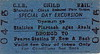 CORAS IOMPAIR EIREANN TICKET - DROMOD to DUBLIN PEARSE - Second Class Child Speical Day Return Ticket.