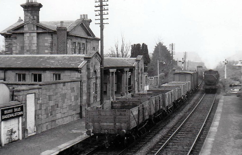 BAGENALSTOWN STATION - on the Dublin - Waterford line, opened in 1850.